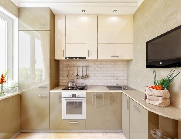 Дизайн светлой кухни 6 кв м