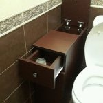 Функциональная тумба в туалет | Мебель в ванную комнату