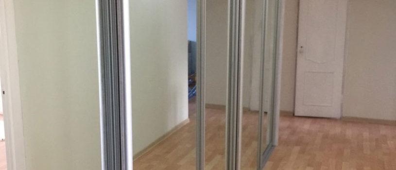 Большой шкаф купе с пятью зеркальными дверьми